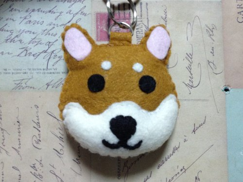 """Christmas presents"" chirp microphone key ring - Shiba (light pressure may sound)"