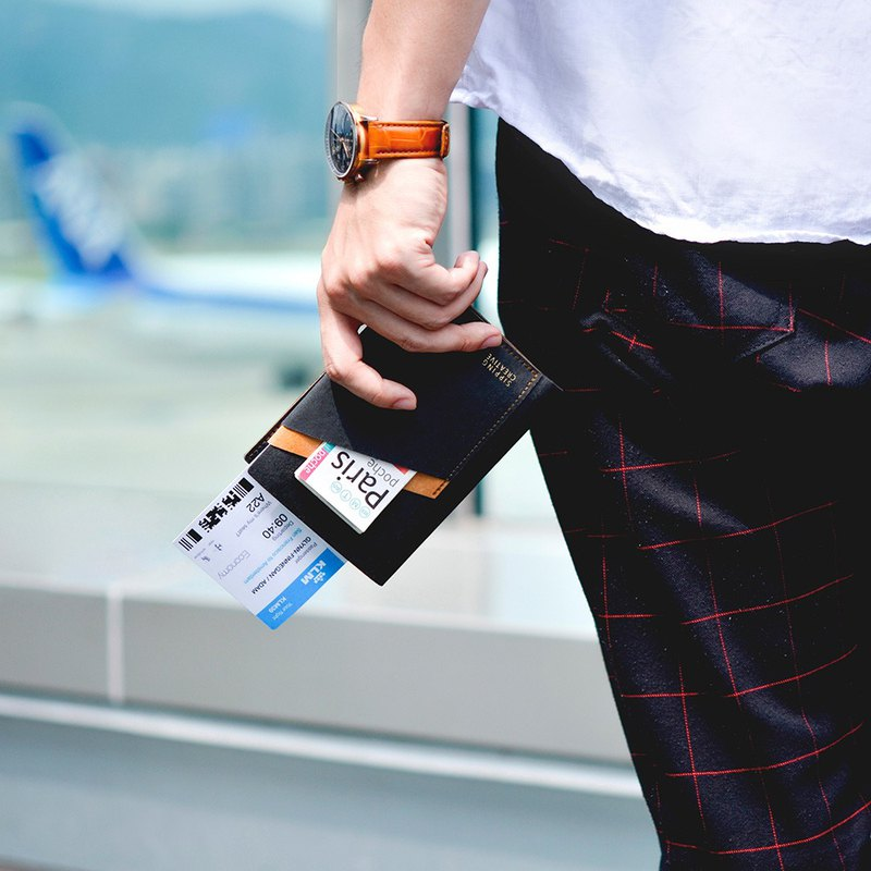 【一起去旅行】護照夾2入+客製刻字