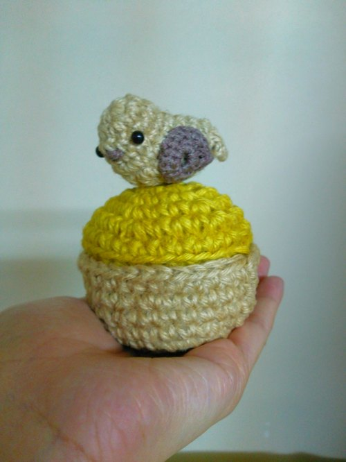 Hemp Crochet bird basket