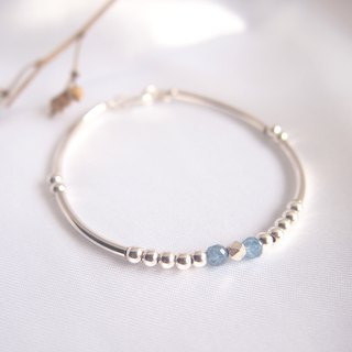 风和日丽 | Kyanite Natural Stone Sterling Silver Bracelet