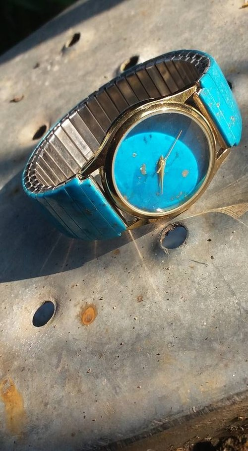 【Lost And Find】Natural gemstone Turquoise watch