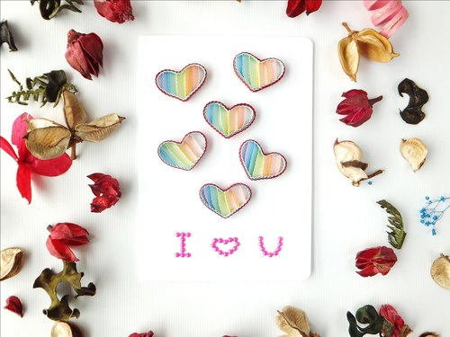 Hand made decorative cards-I love you