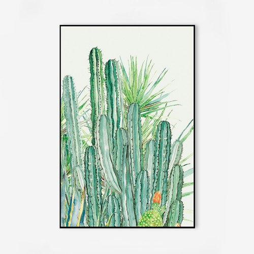 Dissident cactus decorative painting the living room modern minimalist bedroom sofa backdrop mural wall painting fresh plant