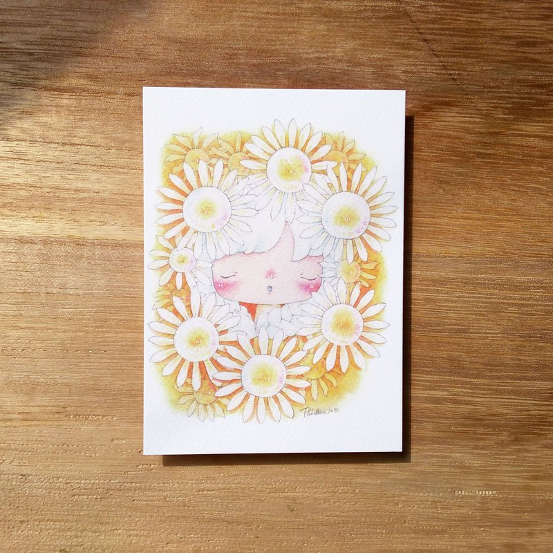 {139}the weight of annoyance - Flower,illustration postcard