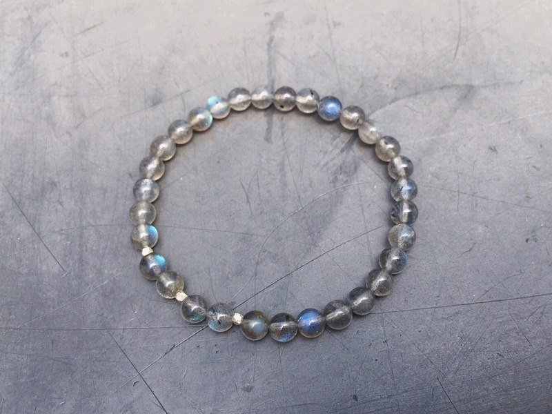 [Ofelia.] Series natural stone - natural stone x elongated silver fine particles simple Bracelet [J78-Bear] Crystal / natural stone