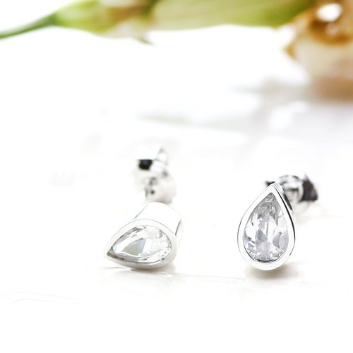 Raindrop raindrop earrings silver925
