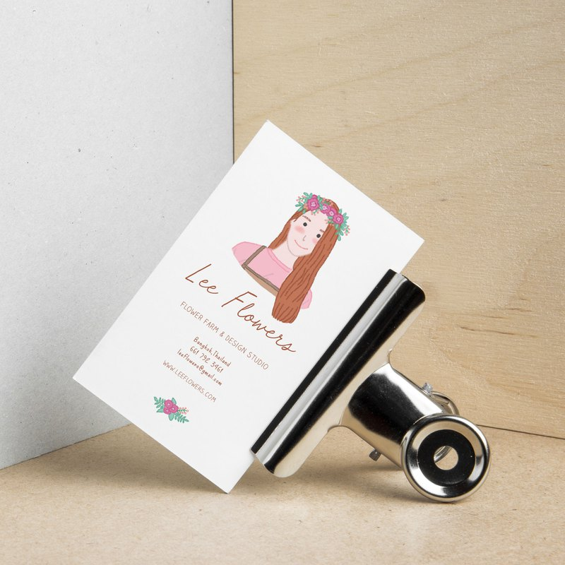 Custom Illustrated Personalized Business Cards + Print Set