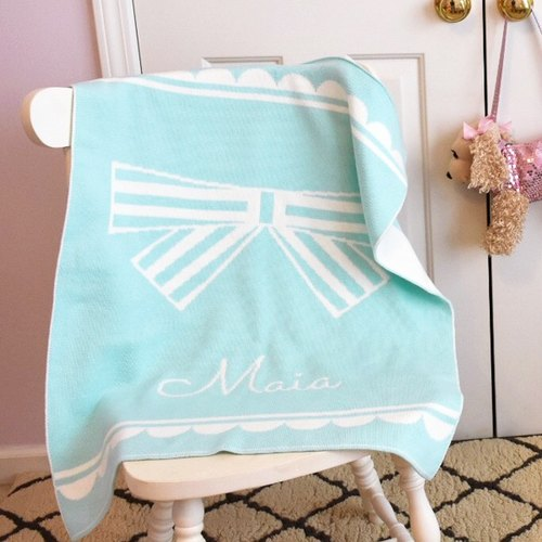 Customized Name blankets ★ Scallop Ribbon 60x80cm