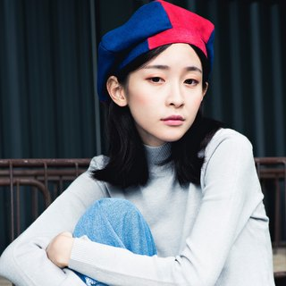 [The MAMA's Closet] Papillon (red and blue) / pumpkin hat (beret)