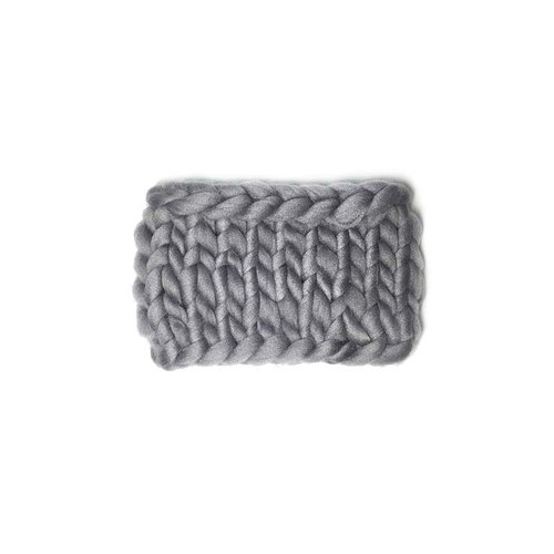 Weaving strange Knitweird ultra light gray coarse lines straight woven scarf / scarves