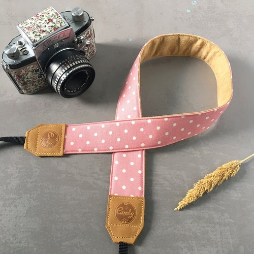 Pink Pokadot Mirrorless or DSLR Camera Strap