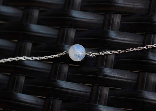 925 sterling silver baby bracelet temperament blue moon blue natural stone