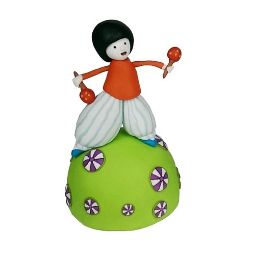 <Bell in hand sand dance> Music Box Fimo