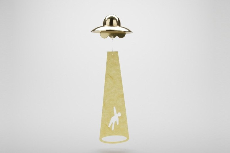 Wind chime (UFO-Gold)