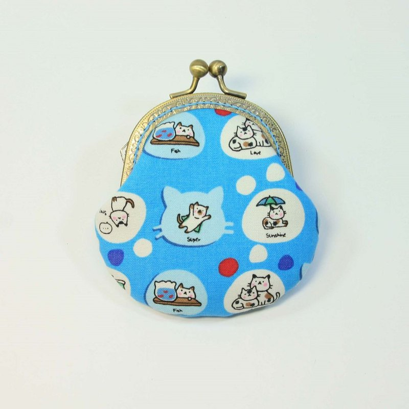 8.5cm gold coin purse 41-cat light blue background