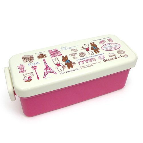 """Lisa and Casper"" lunch box (with chopsticks) - stroll in Paris"