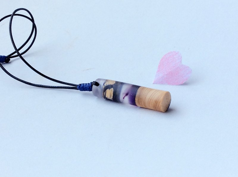 Valentine is purple to ❤️ u cypress handmade necklace