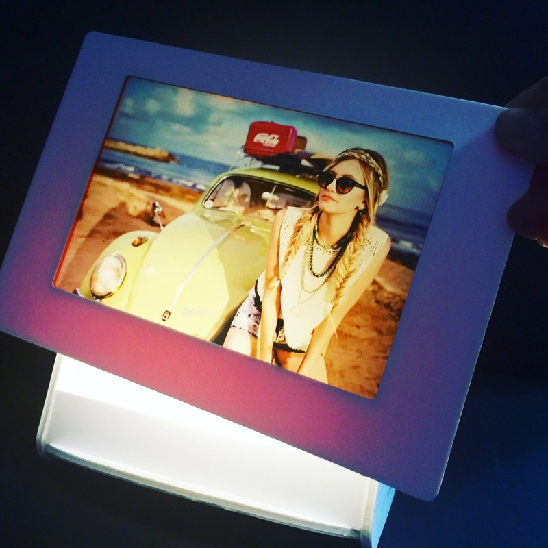 One 4:6(Landscape) GlimmerArt with LED Stand-personalize gifts-Graduation-mother