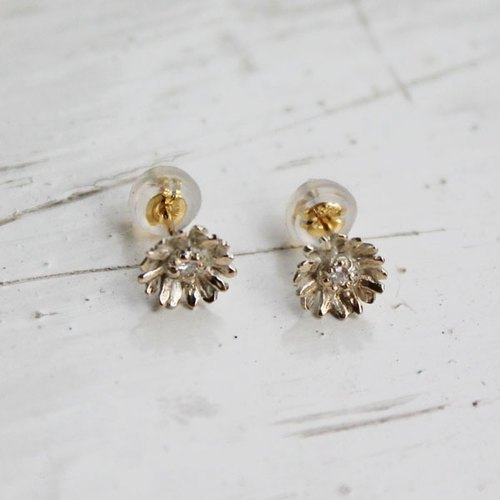 K10 Chrysanthemum Earrings