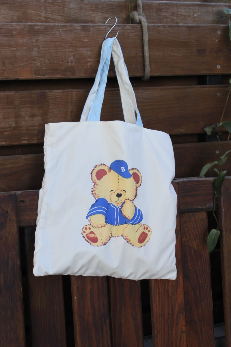 Cute fat bear Double-sided use Organic cotton Reusable shopping bags
