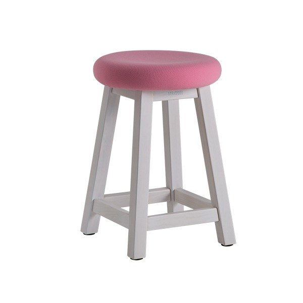 Stool. Ya Recreational stools (white wash) (pink) ─ door [love]