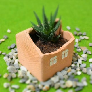 [good] pottery house basic type _ flower pot _ pen holder _ storage _ table decoration _ Tao house
