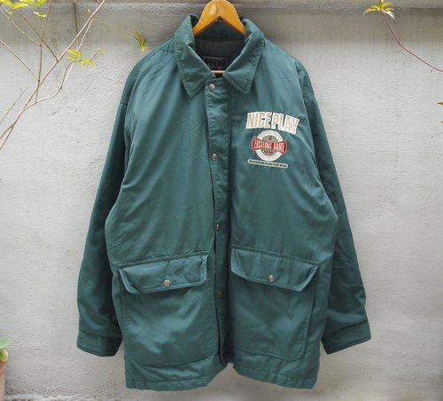 FOAK ancient forests green embroidered windbreaker