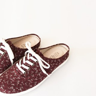 Lace-up lazy day | Pickled plum minor flower shoes. Lazy shoes new version. Office recommended. Leather insole