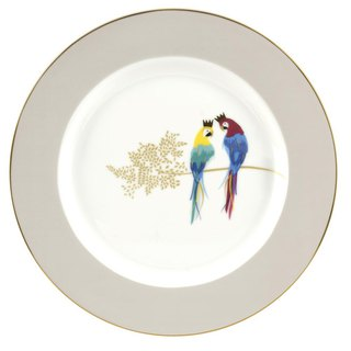 Sara Miller London for Portmeirion Piccadilly Collection Cake Plate - Parrots