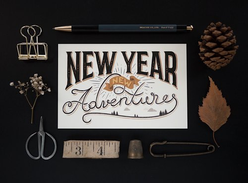 New Year New Adventures | Postcard