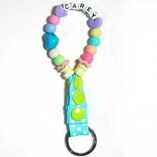 "Cheerful. ""Custom Name"" colorful hot air balloon shape key ring / strap / Christmas exchange gift / birthday gift / graduation gift fresh green"