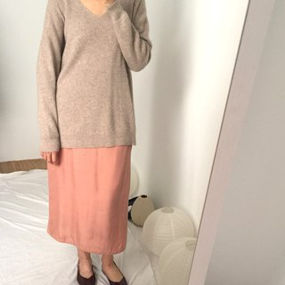 Re Sweater- V-neck Kashmir wool long sweater multi-color optional