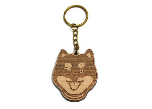 Shiba / black wood / wool children / pet / dog / carpentry / wood key ring / gift / customized