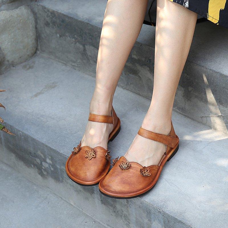 個性魔術貼鬆糕女鞋粗跟厚底涼鞋春夏