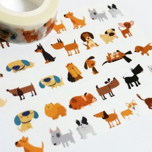 Customized Mini Washi Tape I Love Dogs