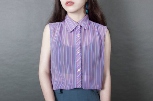 Banana cat. Banana Cats Fruity Shave Purple Stripe Antique Sleeveless Shirt