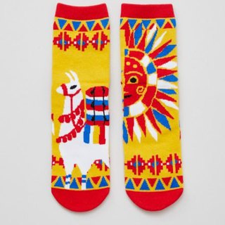 Copy [Pre-order] Mexican skull and sun alpaca socks 24CM CISP4104