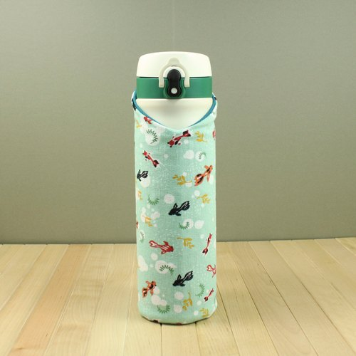 Adalao - Suit Bottle Hollow Bottle Kettle Set - Mint Blue Green & Goldfish