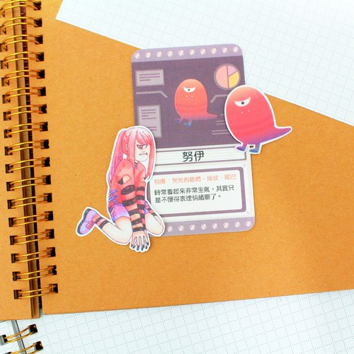 Nui waterproof stickers group 2 into (with a character card 1)