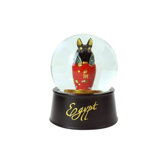 Egyptian Crystal Ball Magnet Wolf Can