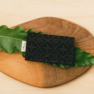 Business Card Holder/Begonia Glass Pattern/Gentleman Black