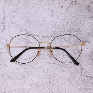 Vintage style small round glasses black and yellow color fine frame glasses glasses optical safety lenses nano blue lens