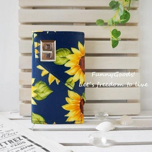 iPhoneSE, iPhone5 & iPhone5s & iPhone5SE ★ sunflower notebook type Sumahokesu [Navy]