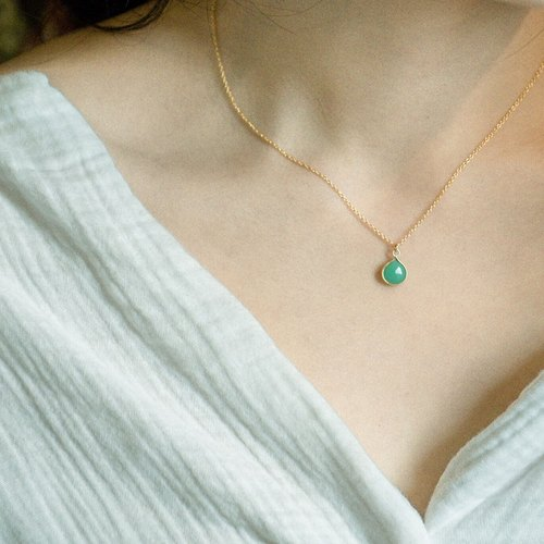 Nude muscle heart type Australian jade clavicle necklace