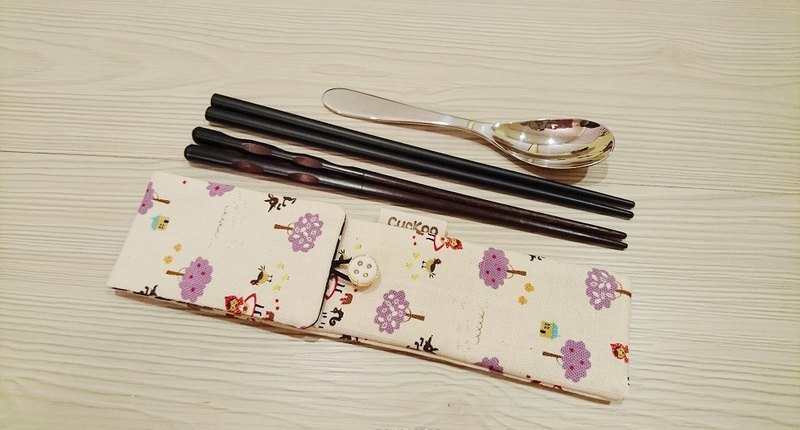Hands chopsticks sets, bags of chopsticks, chopsticks combination of special Little Red Riding Hood purple section