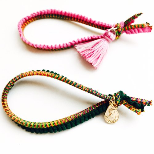 Chain Rainbow Water Drop Hair Bracelet - Colorful Tassel Mixed Color