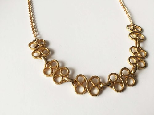 Vum + butterfly gold chain necklace