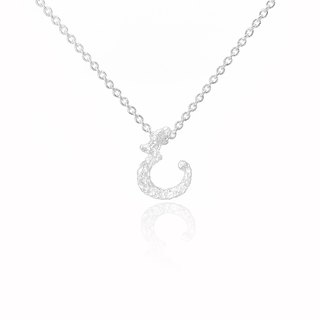 E. / Silver Necklace