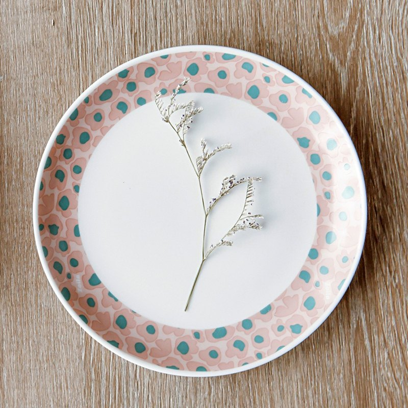 "Tea time. Me time ""soft powder"" new bone china plate 