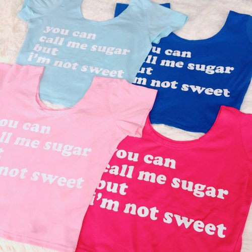 Sugar Multicolored Short Cotton Text Sheets